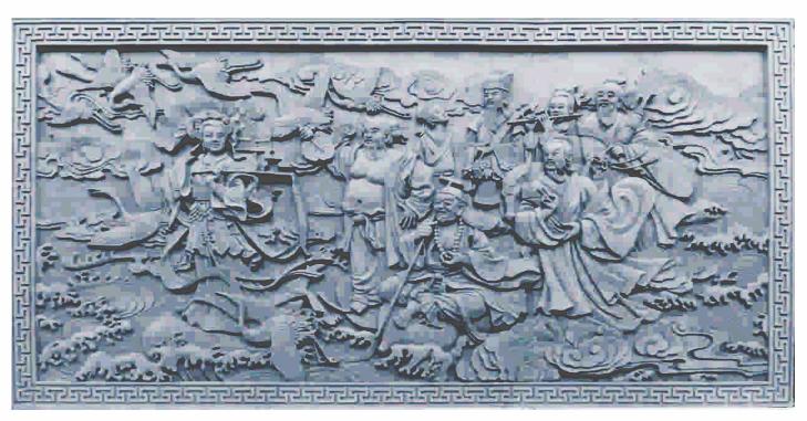 砖雕——八仙过海