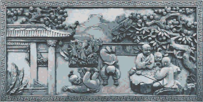 砖雕——童趣图