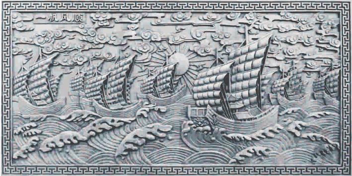 砖雕——一帆风顺