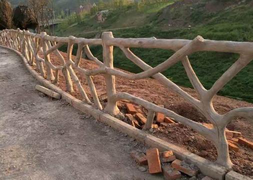 仿木仿石护栏在美丽乡村及各个领域的应用