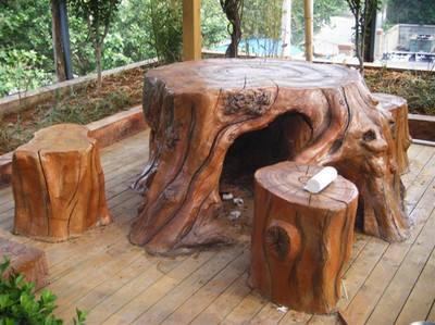 水泥仿木桌椅案例欣赏