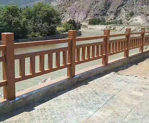 仿木栏杆和景观相配相辅相成