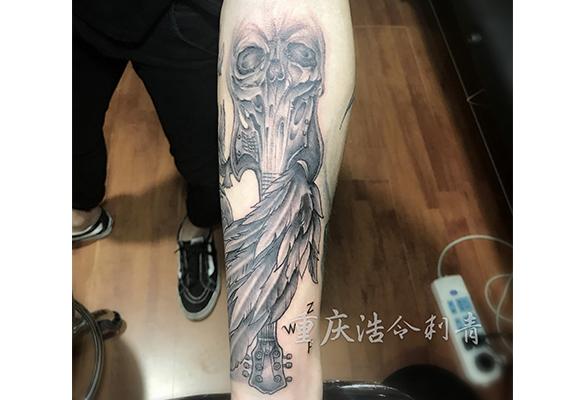 骷髅写实纹身