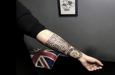 玛雅图腾的纹身