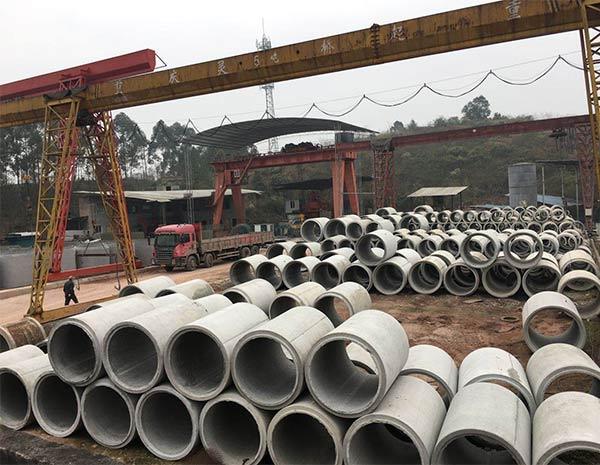 钢筋排水管存放处