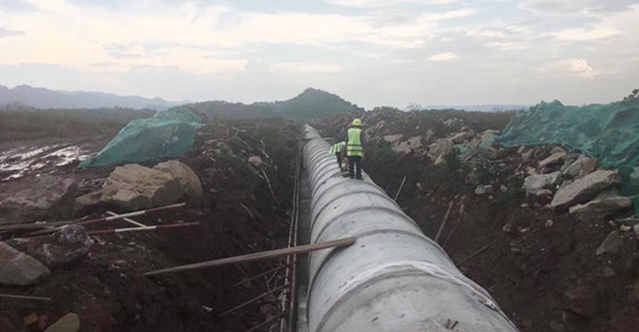 钢筋水泥管工程案例