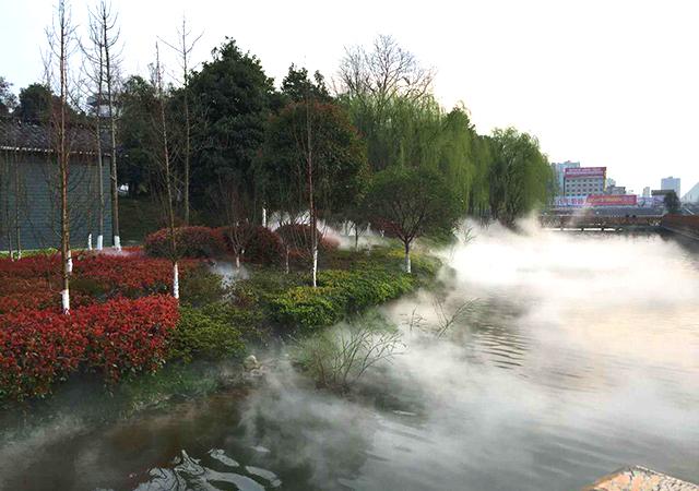 重庆公园喷雾造景