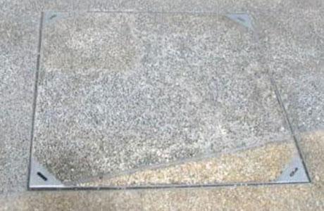 不锈钢方形井盖安装