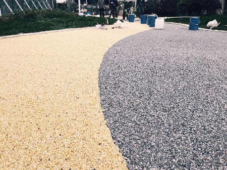 地胶粘石透水地坪