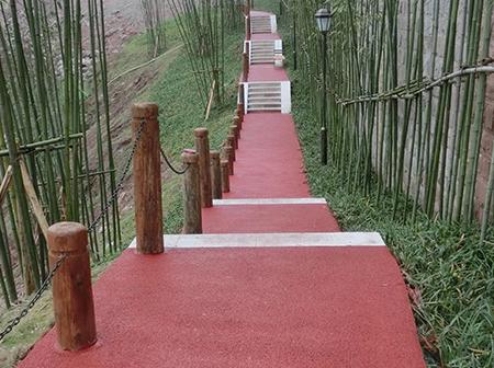 重庆渝北香港置地.约克郡公园透水混凝土施工