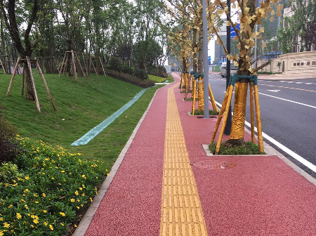 重庆彩色透水路面