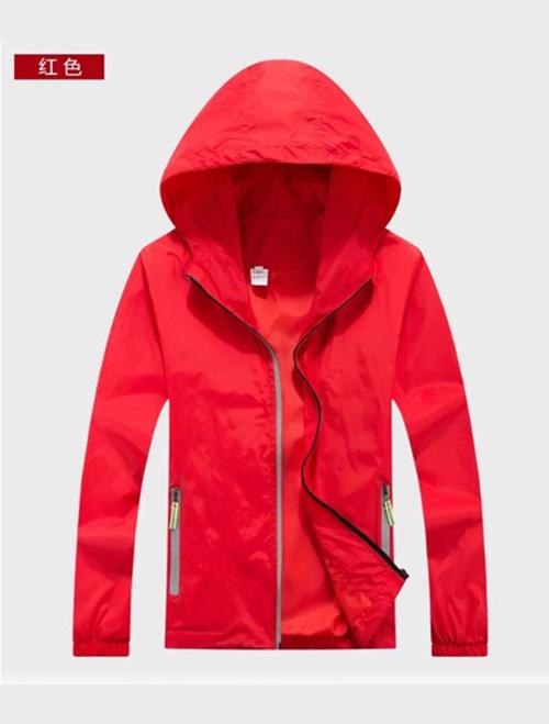 红色春秋风衣