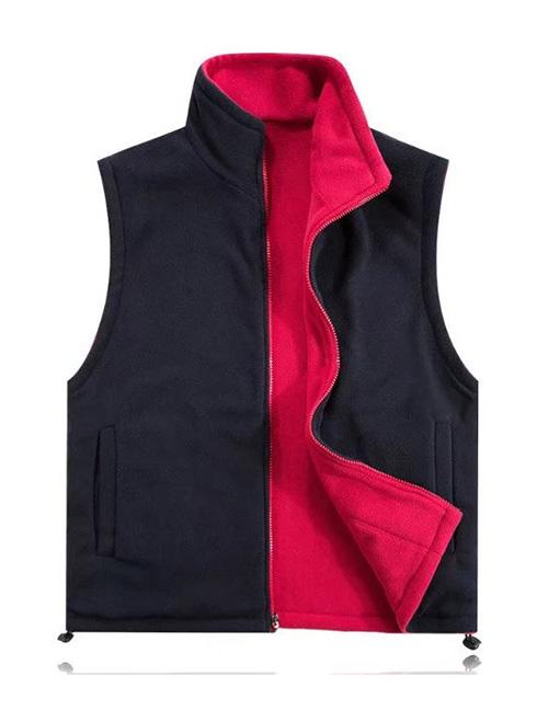黑红双面穿绒马甲
