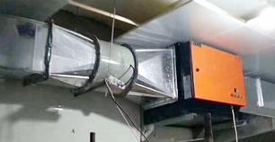 餐饮厨房油烟净化器设备安装