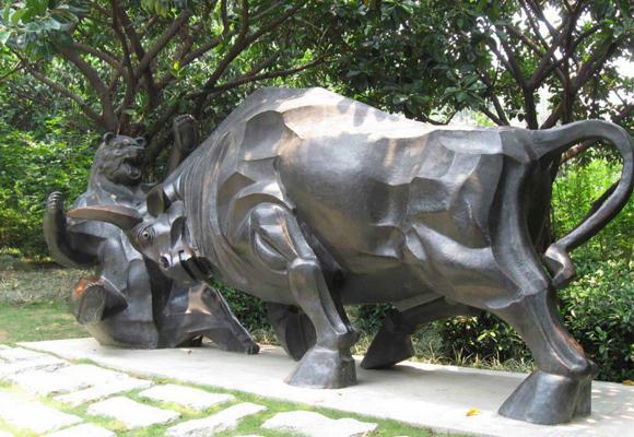 动物锻铜雕塑