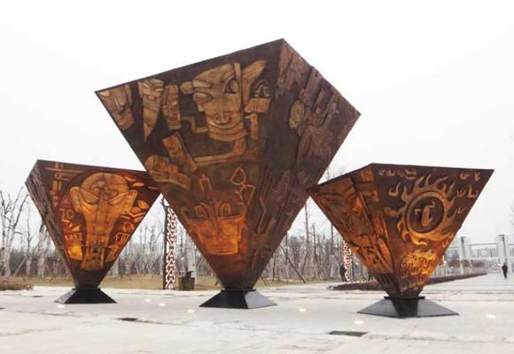 文化锻铜雕塑