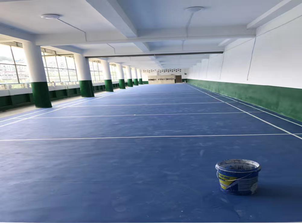 贵州铜仁硅PU塑胶球场施工竣工