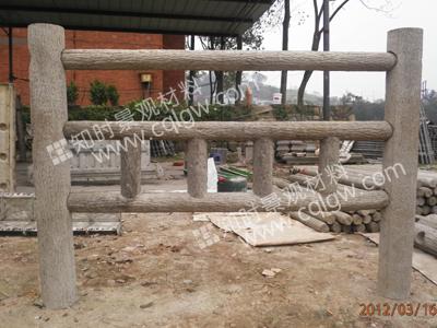 仿树皮水泥栏杆