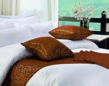 酒店客房床上用品展示