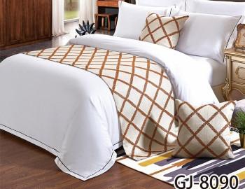 格纹床尾巾、抱枕套