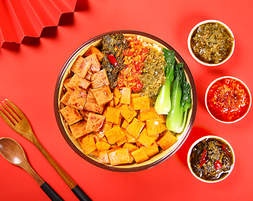 千叶豆腐拼肉多多拌饭