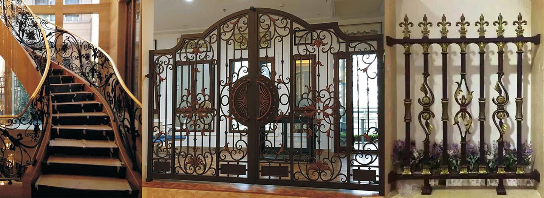 鐵藝大門為樓盤增添藝術氣息,起著建筑裝飾的作用
