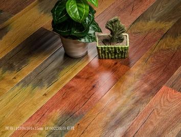 艺术实木地板-DF6022缤纷彩橡