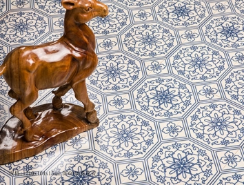 藝術地板-DF6040青花瓷