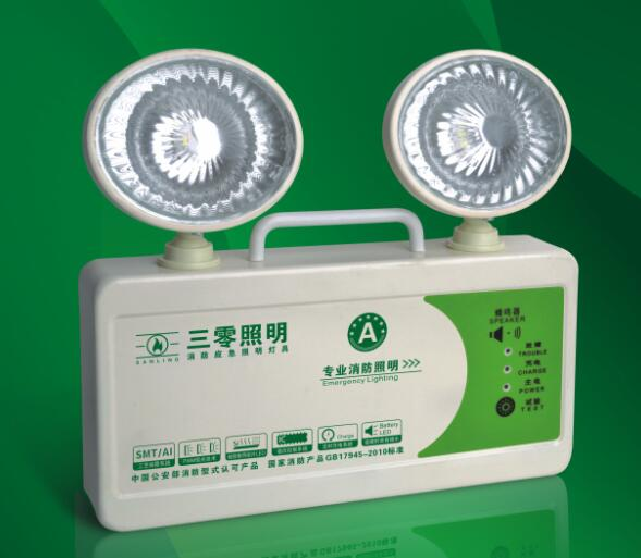 也可以将应急照明灯安装于立柱上面