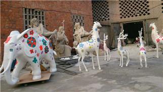 重庆动物雕塑通过什么样的物质材料和手段完成著作