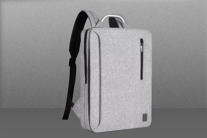 灰色电脑包设计师款