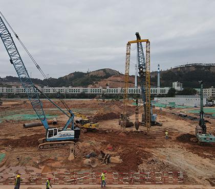团风县罗霍洲码头货场堆场强夯工程
