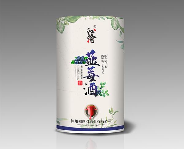 蓝莓酒(纸桶装)