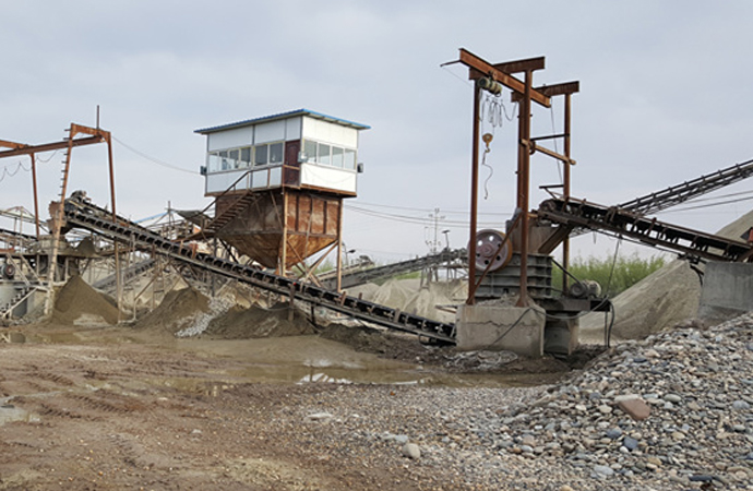 鹅卵石加工基地