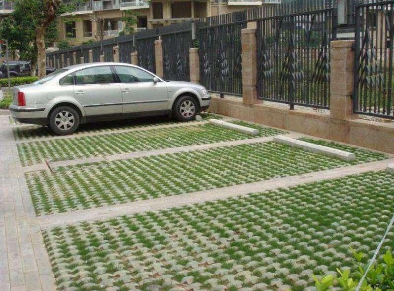 奥园室外停车场草坪砖
