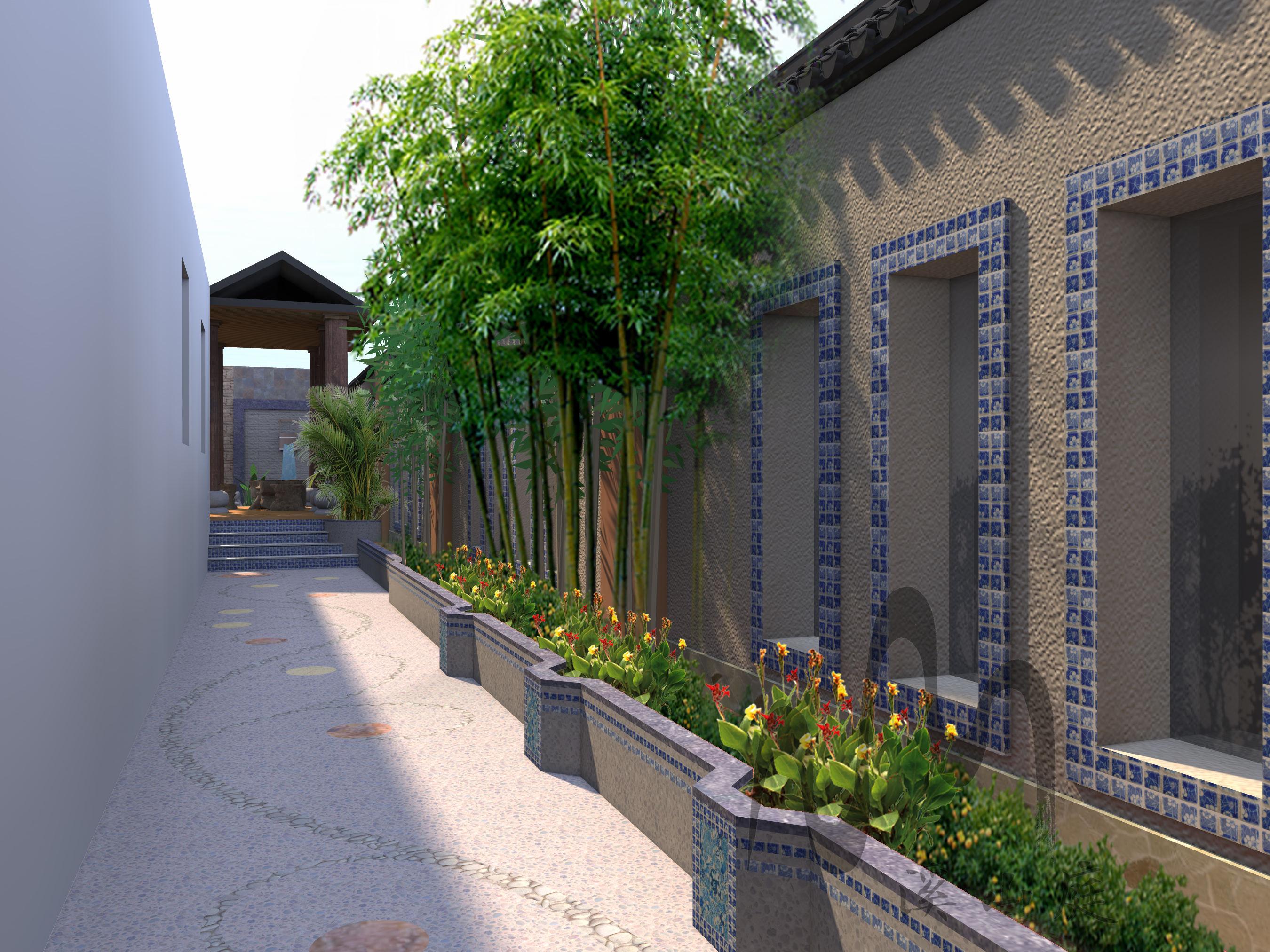 重庆东原香山庭院景观(新中式)