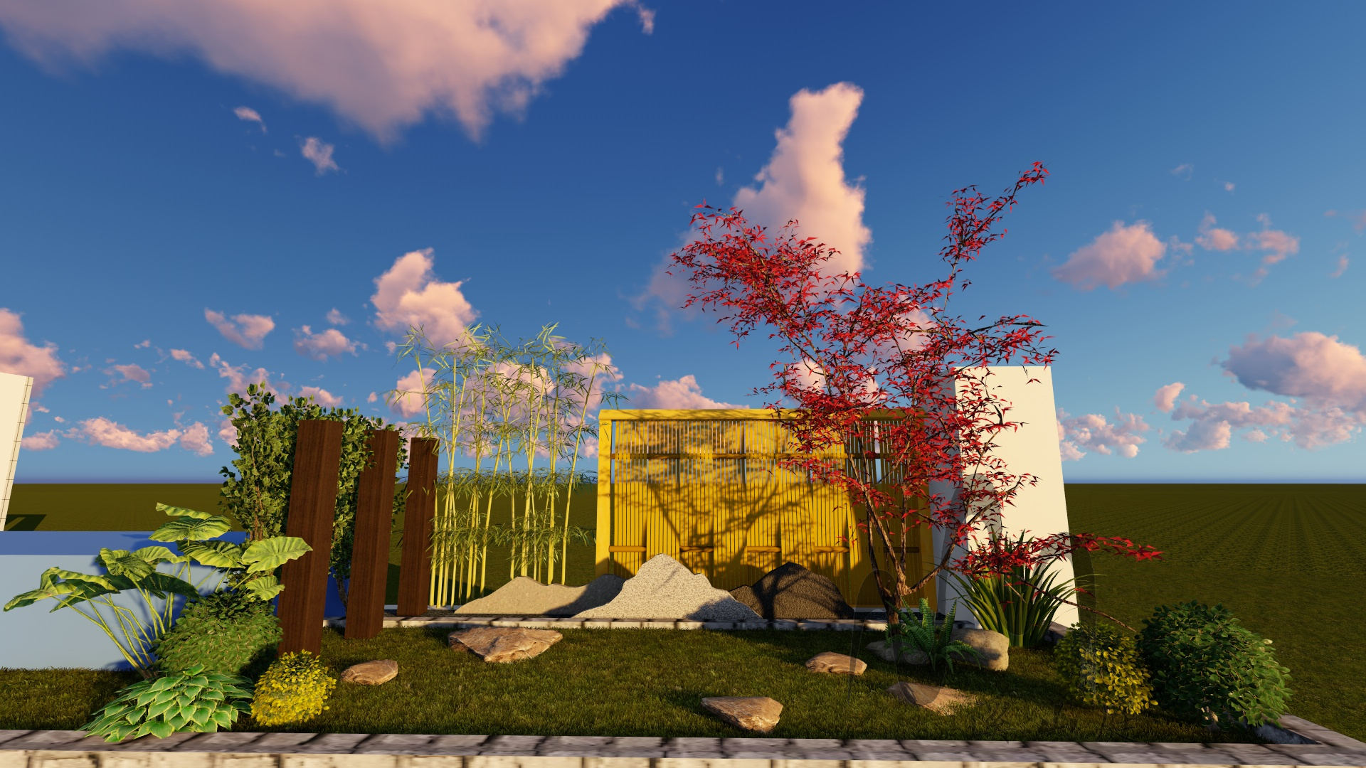 重庆龙湖原山66-5庭院别墅花园设计(日式)