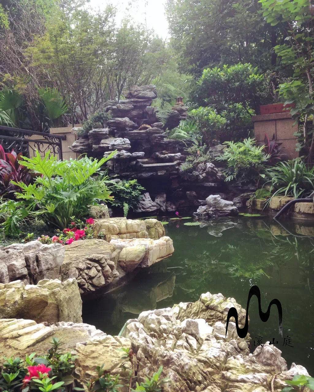 重庆金科公园王府3-1-102别墅花园施工工程(中式)