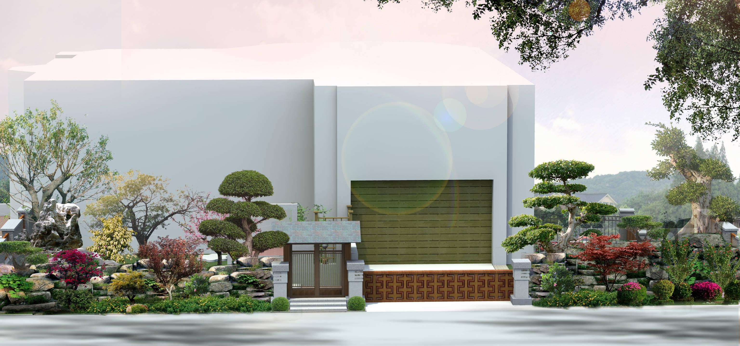 重庆保利高尔夫179栋别墅庭院设计(中式)