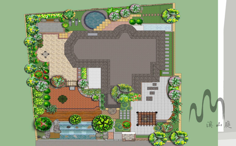 重庆市保利小泉24-4别墅花园庭院设计(现代风格)