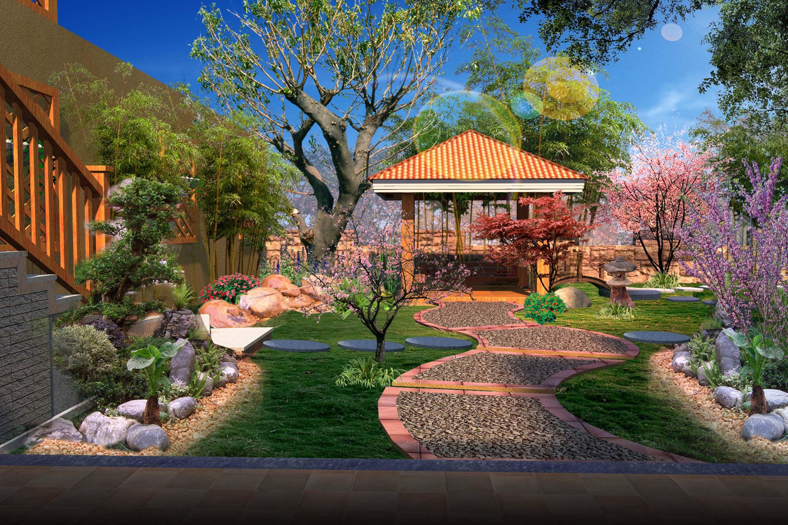 重庆博爵堡27栋别墅庭院花园设计(欧式)