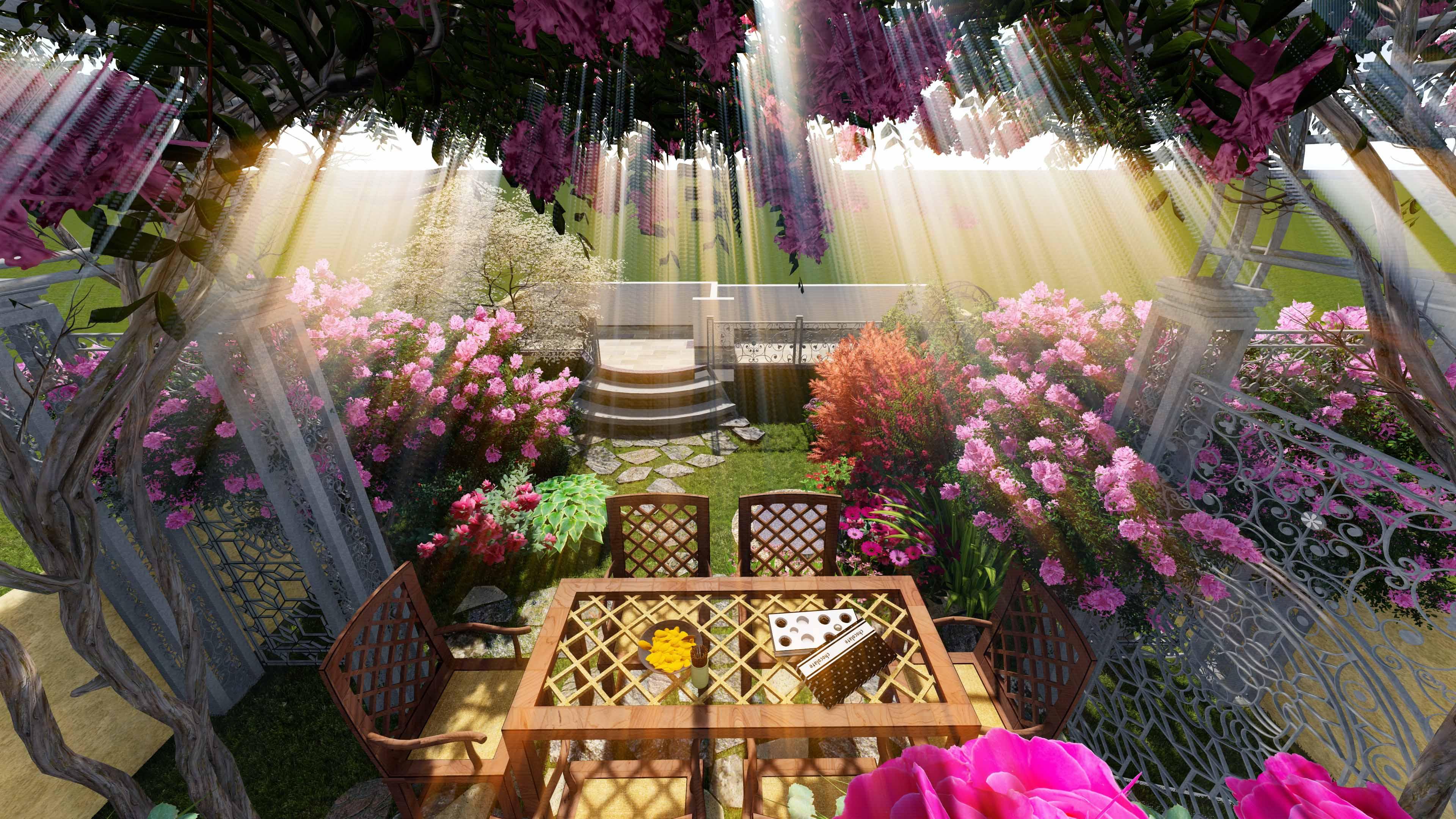 重庆凡尔赛别墅花园庭院设计(欧式)
