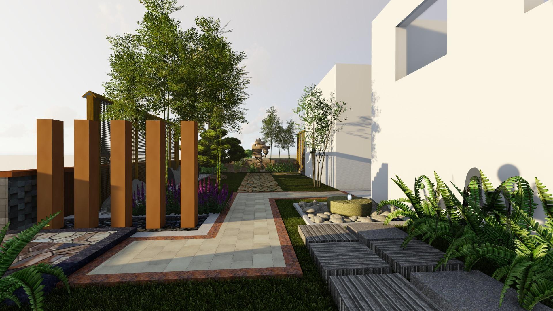 中式园林景观小品_现代中式风格_溪山庭景观园林设计