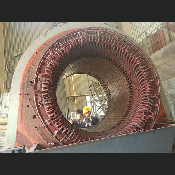 6300KW同步电动机维修