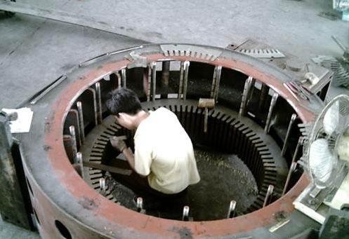 高压电机维修案例