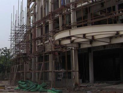 外墙钢管架搭建