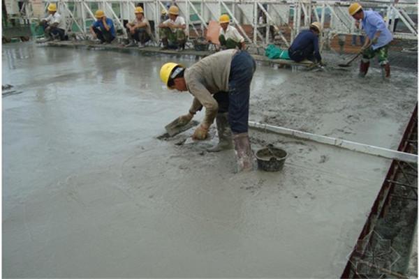 地面混泥土浇筑