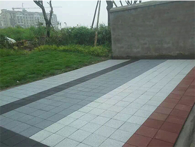 生态透水砖施工案例