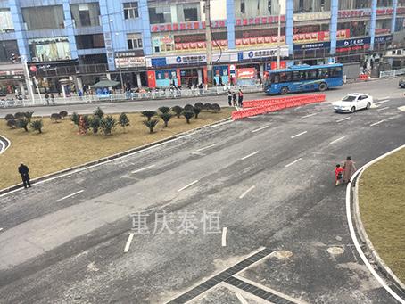 沙坪坝高铁站广场气泡混合轻质土回填