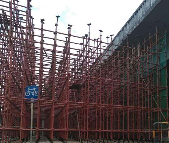 满堂钢管架搭建